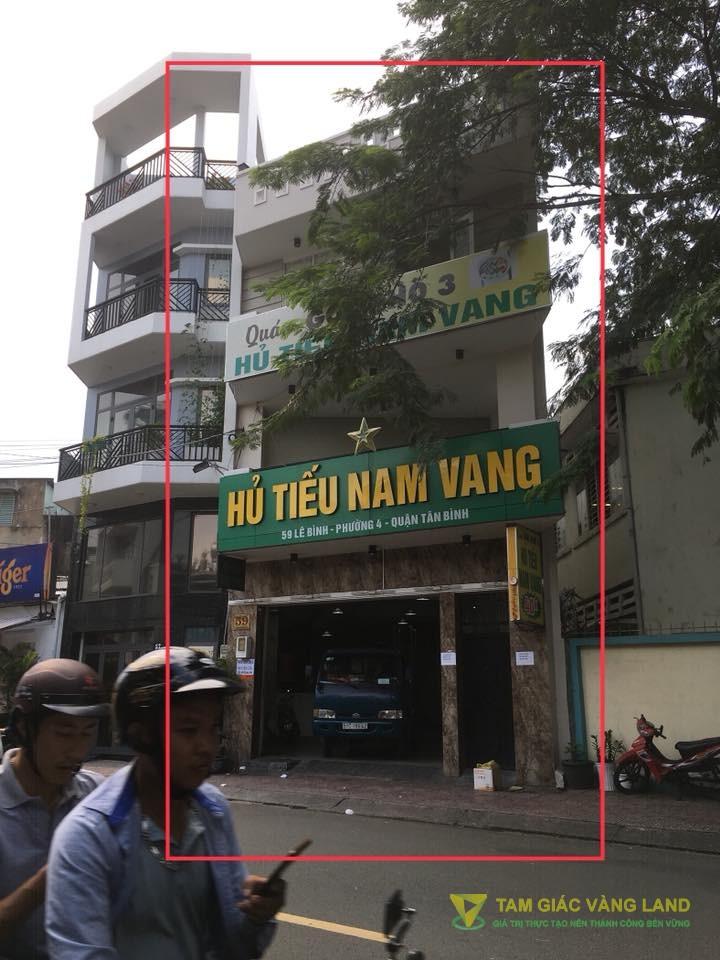 Cho thuê nhà mặt tiền đường Lê Bình, Phường 4, Quận Tân Bình, DT 6x18m, 1 trệt 2 lầu 1 sân thượng