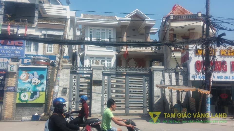 Cho thuê nhà mặt tiền đường Đỗ Xuân Hợp, Phường Phước Long B, Quận 9, DT 8.5x11m, 1 trệt 2 lầu, sân, Giá 3500 usd/tháng