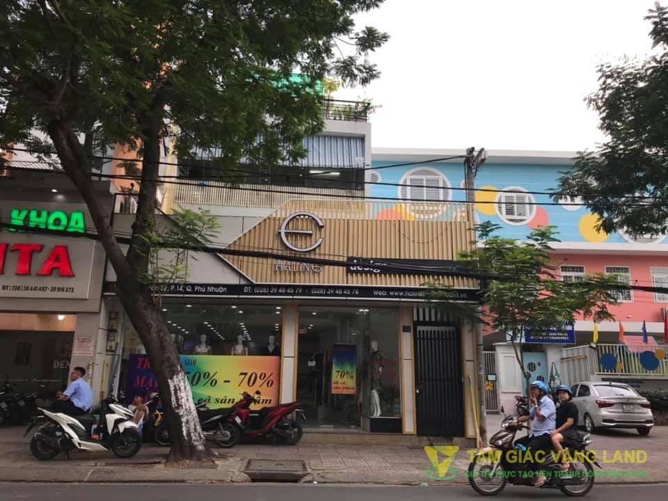 Cho thuê nhà mặt tiền đường Lê Văn Sỹ, Phường 14, Quận Phú Nhuận, DT 8.6x17m, 1 trệt 3 lầu thụt, Giá 110 triệu/tháng