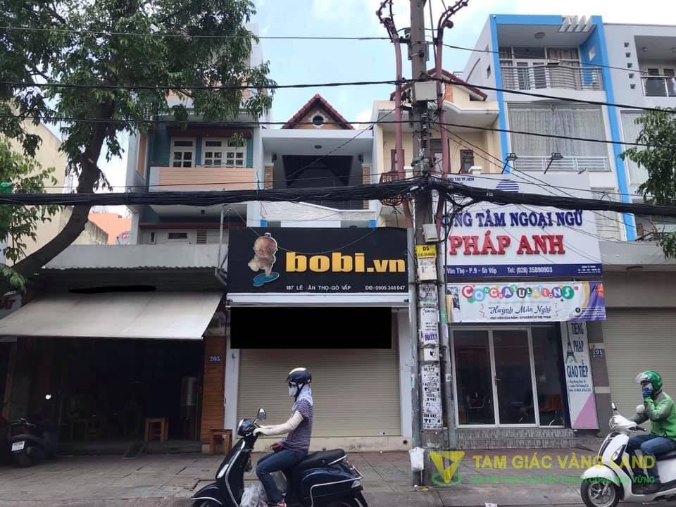 Cho thuê nhà mặt tiền đường Lê Văn Thọ, Phường 9, Quận Gò Vấp, DT 4x30m, 1 trệt 2 lầu, Giá 35 triệu/tháng
