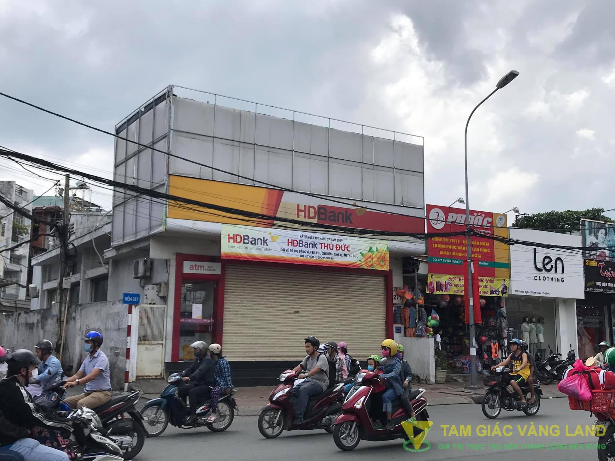 Cho thuê nhà mặt tiền đường 2 mặt tiền Võ Văn Ngân, Phường Linh Chiểu, Quận Thủ Đức, DT 9.5x21m, 1 trệt, Giá 6500 usd/tháng