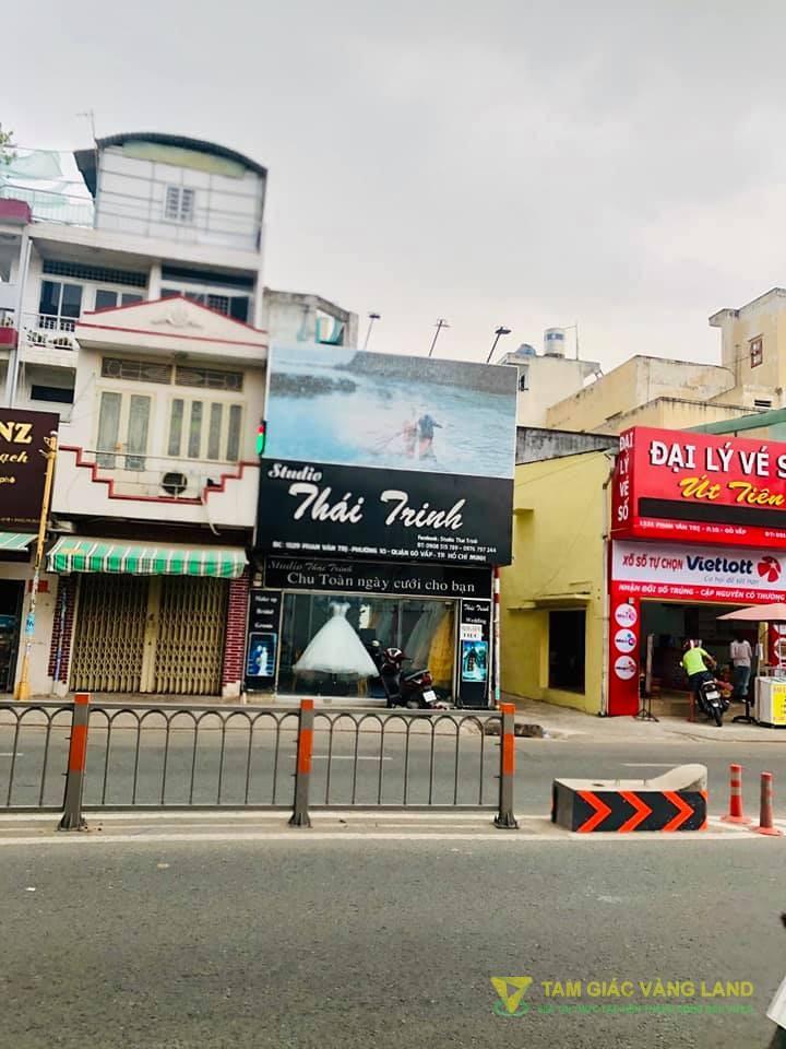Cho thuê nhà mặt tiền đường Phan Văn Trị, Phường 10, Quận Gò Vấp, DT 4.4x7m, 1 trệt 1 lầu, Giá 20 triệu/tháng