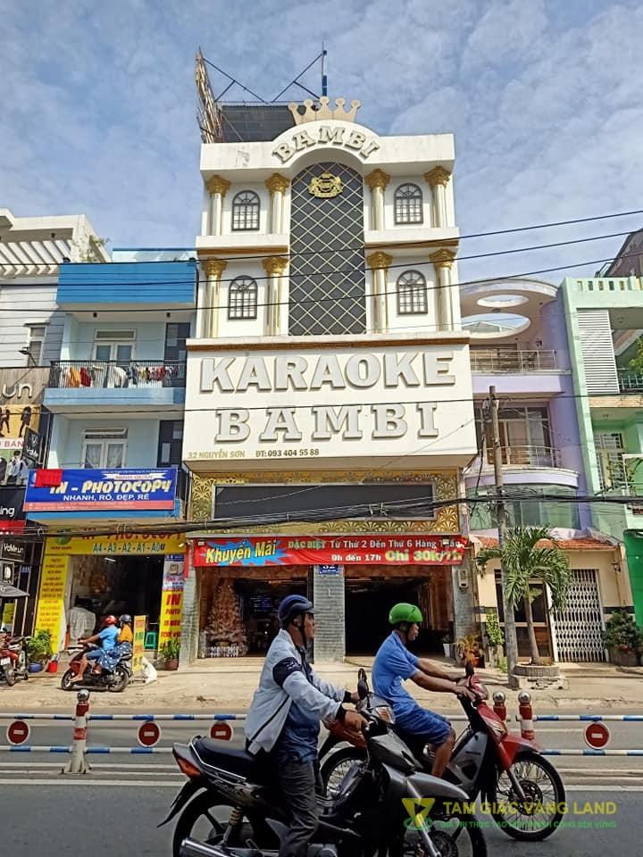 Cho thuê nhà mặt tiền đường Nguyễn Sơn, Phường Phú Thọ Hòa, Quận Tân Phú, DT 8x27m, 1 trệt 3 lầu, Giá 120 triệu/tháng