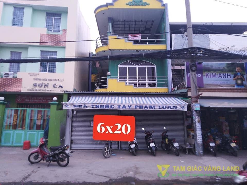 Cho thuê nhà mặt tiền đường Huỳnh Tấn Phát, Thị trấn Nhà Bè, Huyện Nhà Bè, DT 6x20m, 1 TRỆT  2 LẦU, Giá 30 triệu/tháng