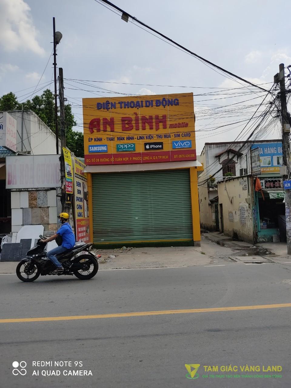 Cho thuê nhà mặt tiền đường Đỗ Xuân Hợp, Phường Phước Long A, Quận 9, DT 4.5x22m, trệt + 2 lầu, Giá 30 triệu/tháng