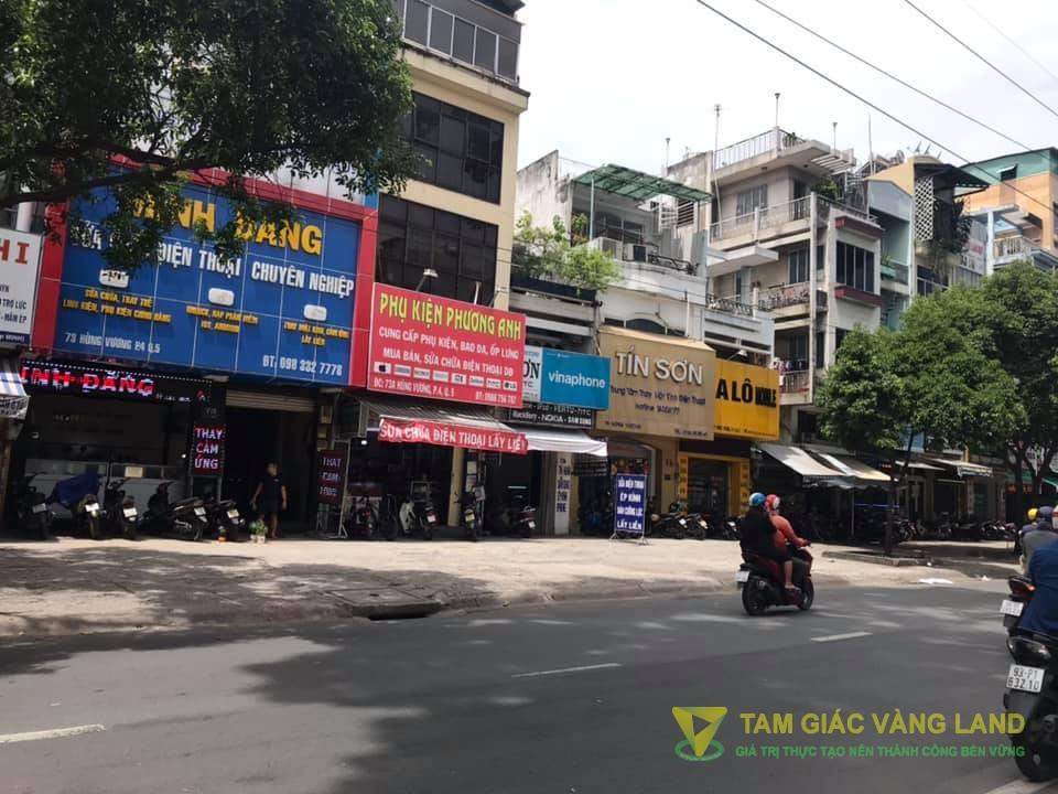 Cho thuê nhà mặt tiền đường Hùng Vương, Phường 4, Quận 5, DT 4x17m, 1 trệt 2 lầu sân thượng, Giá 40 triệu/tháng
