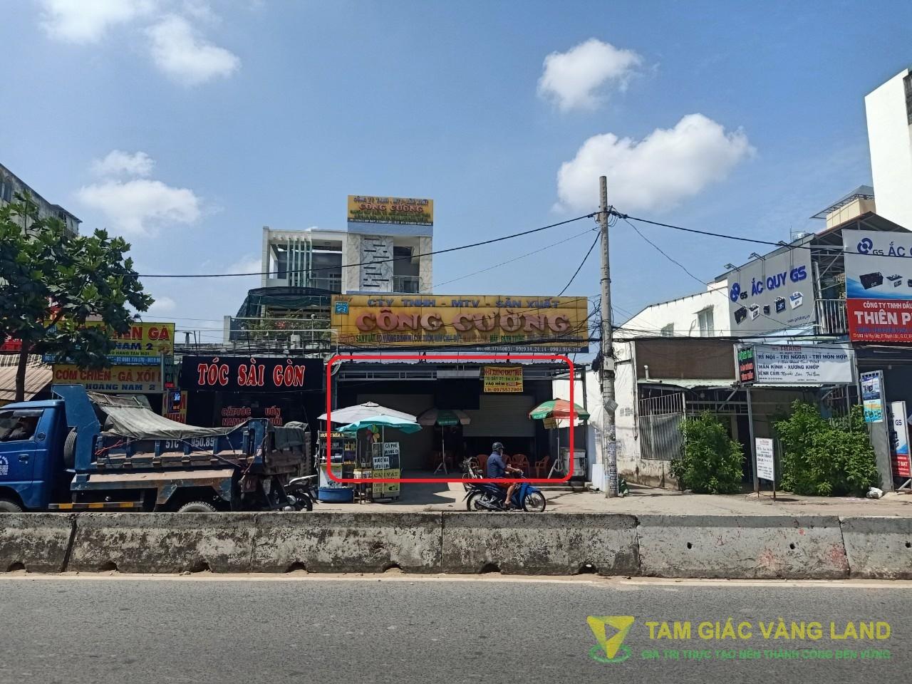 Cho thuê nhà mặt tiền đường Hà Huy Giáp, Phường Thạnh Lộc, Quận 12, DT 8x20m, mặt bằng, Giá 25 triệu/tháng