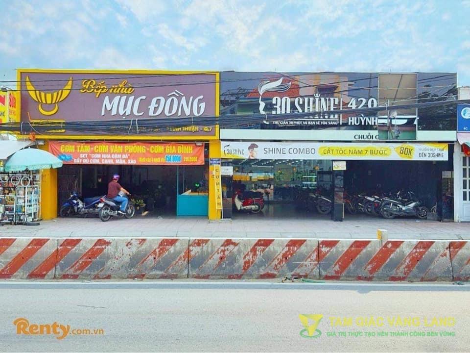 Cho thuê nhà mặt tiền đường Huỳnh Tấn Phát, Phường Bình Thuận, Quận 7, DT 7.5x37m, 1 trệt, Giá 65 triệu/tháng