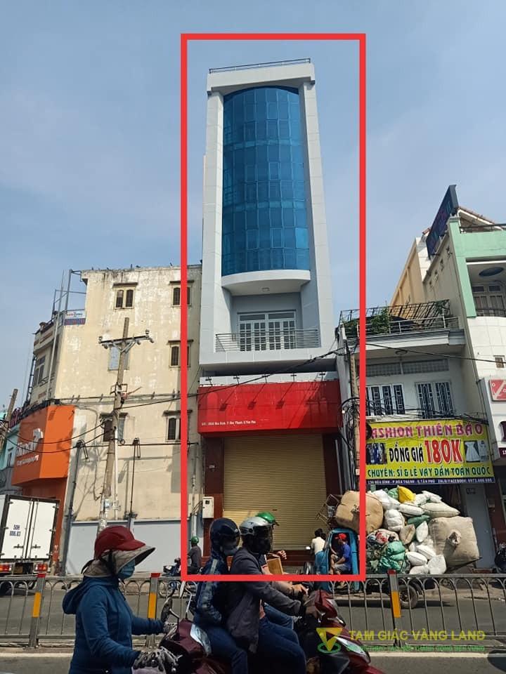 Cho thuê nhà mặt tiền đường Hòa Bình, Phường Hòa Thạnh, Quận Tân Phú, DT 6x16m, 1 trệt 6  lầu, Giá 75 triệu/tháng