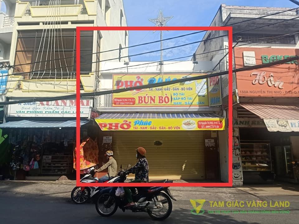Cho thuê nhà mặt tiền đường Nguyễn Thị Nhỏ, Phường 15, Quận 11, DT 5.5x15m, 1 trệt 1 lầu, Giá 40 triệu/tháng