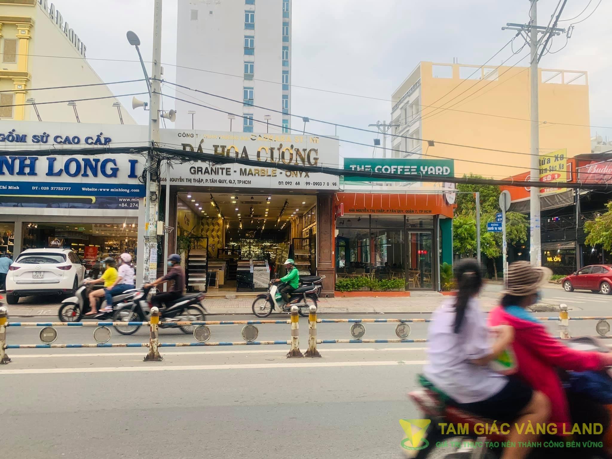 Cho thuê nhà mặt tiền đường Nguyễn Thị Thập, Phường Tân Phú, Quận 7, DT 11x34m, 1 trệt, Giá 280 triệu/tháng