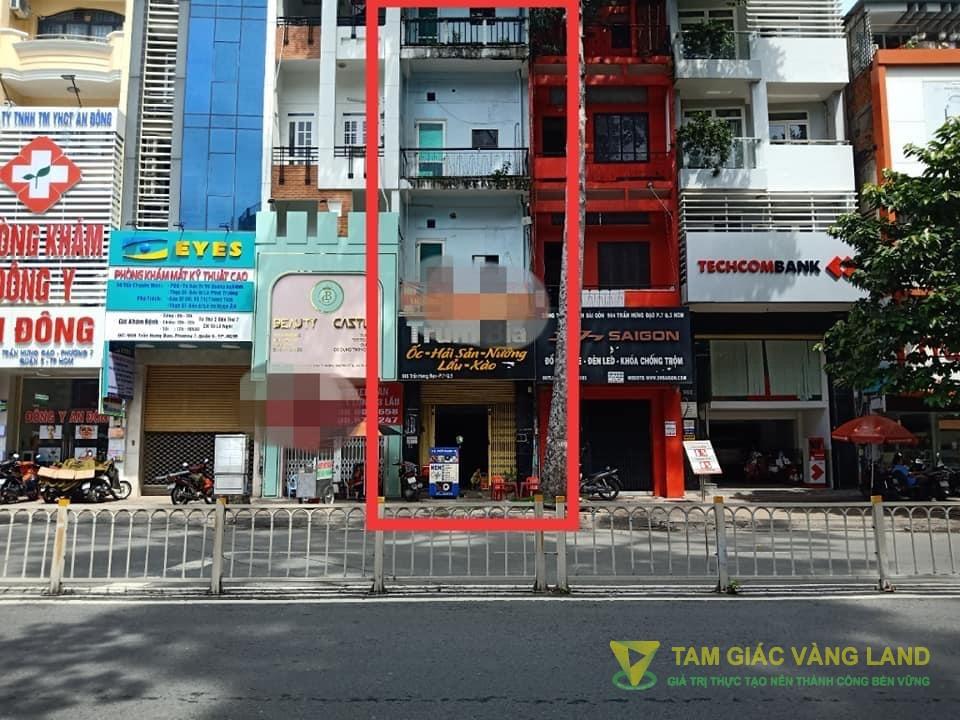 Cho thuê nhà mặt tiền đường Trần Hưng Đạo, Phường 7, Quận 5, DT 4x18m, 1 trệt 1 lững 3 lầu, Giá 65 triệu/tháng