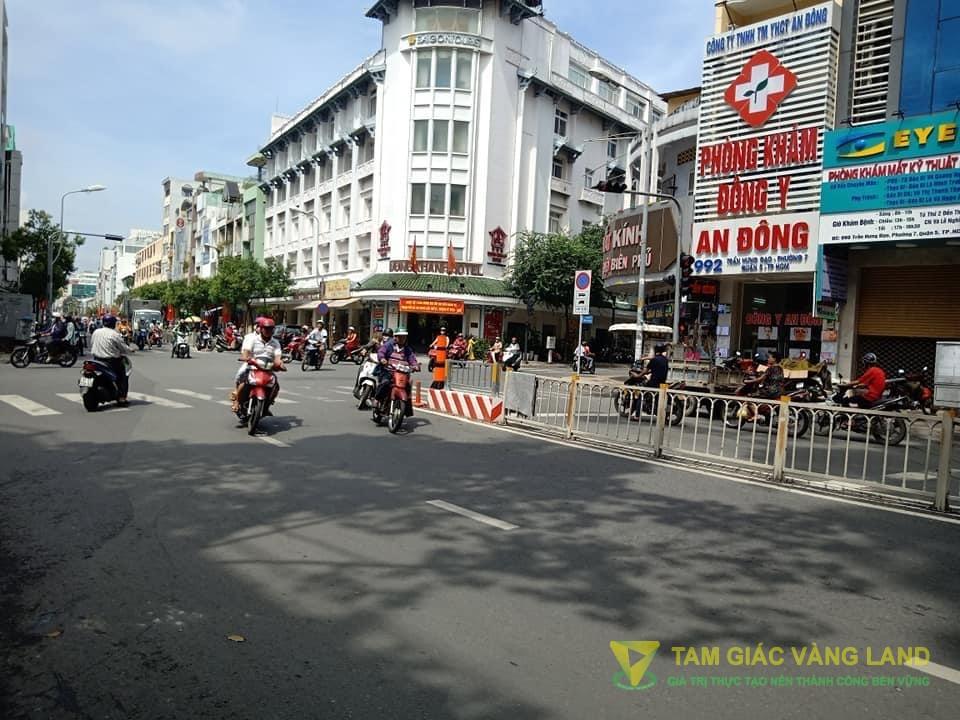 Cho thuê nhà mặt tiền đường Trần Hưng Đạo, Phường 7, Quận 5, DT 4x18m, 1 trệt 1 lững 3 lầu