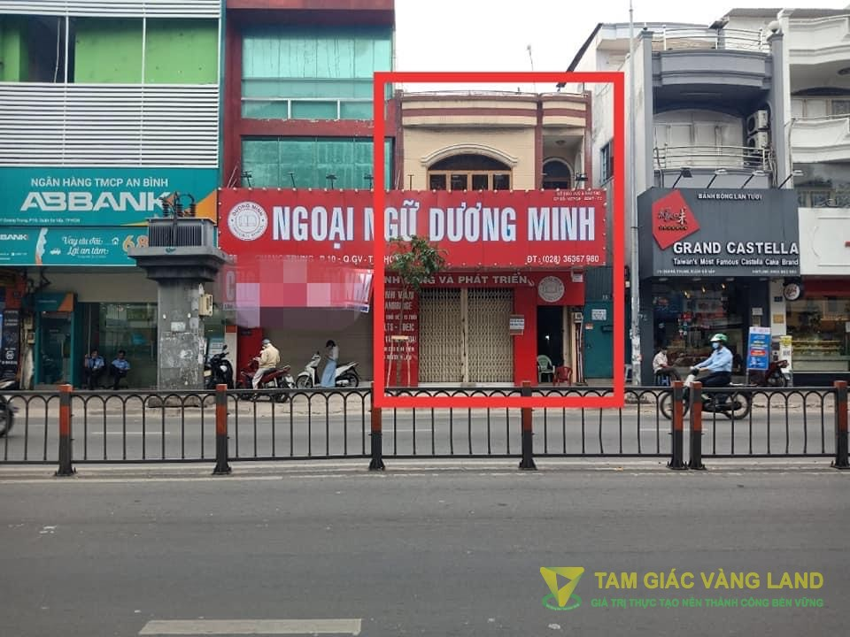 Cho thuê nhà mặt tiền đường Quang Trung, Phường 10, Quận Gò Vấp, DT 5.7x8.5m, 1 trệt 1 lầu sân thượng1 trệt 1 lầu SN, Giá 40 triệu/tháng