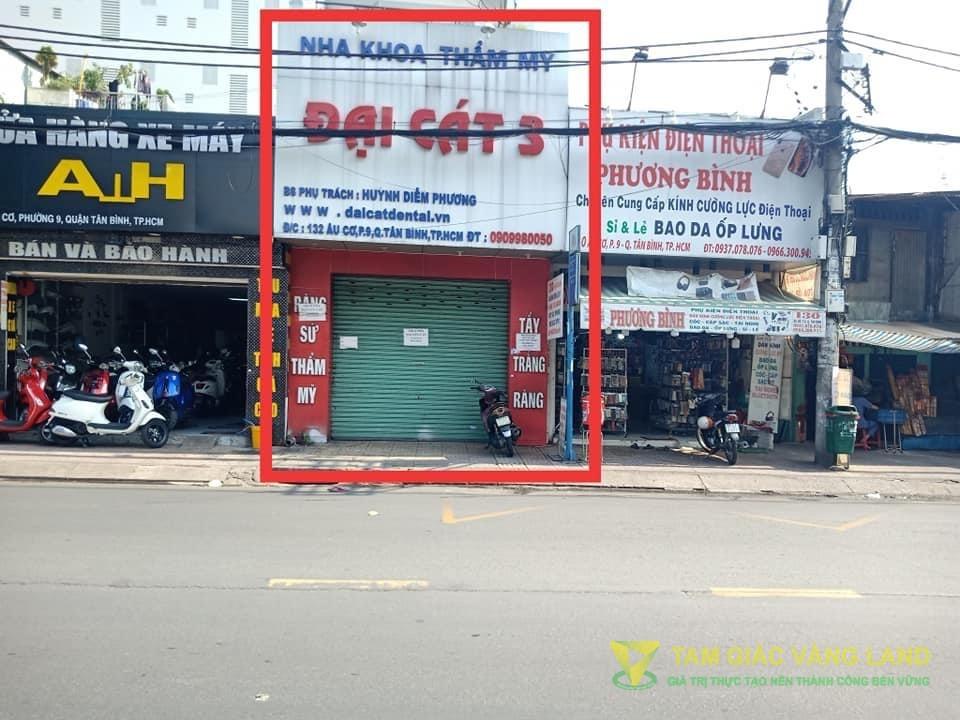 Cho thuê nhà mặt tiền đường Âu Cơ, Phường 10, Quận Tân Bình, DT 4.4x14m, 1 trệt 2 lầu, Giá 37 triệu/tháng