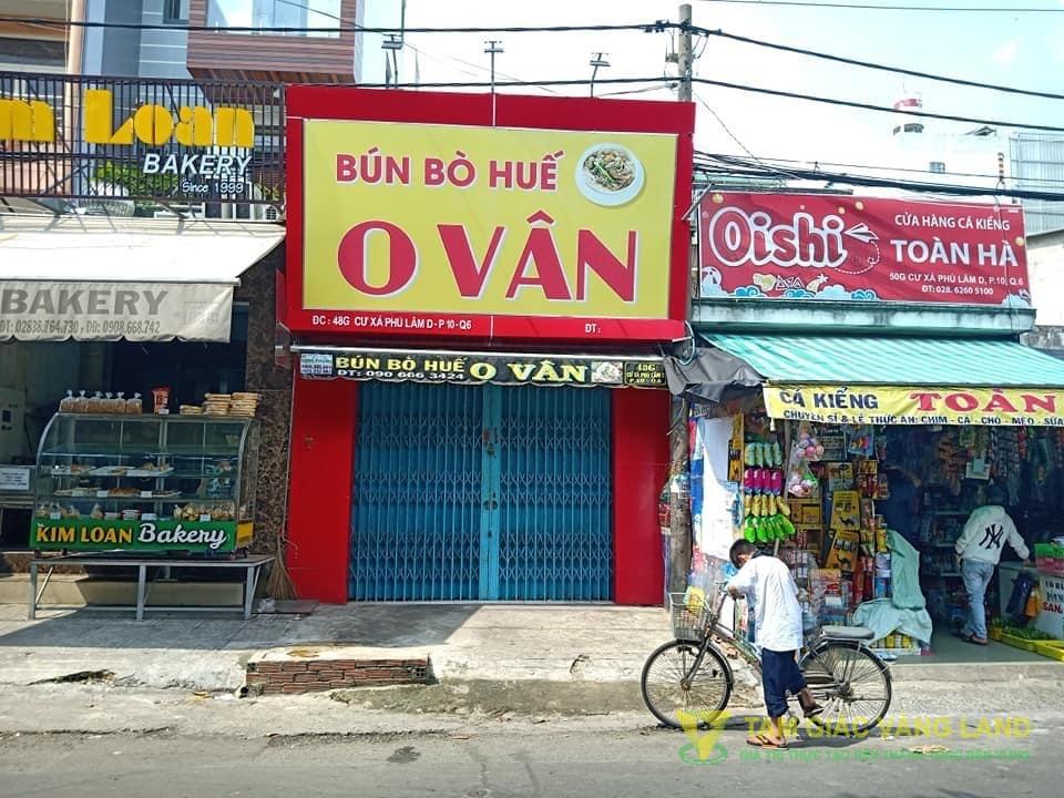 Cho thuê nhà mặt tiền đường Cư Xá Phú Lâm D, Phường 10, Quận 6, DT 4x18m, 1 trệt 1 lầu, Giá 23 triệu/tháng