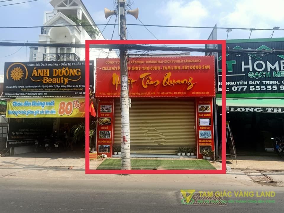Cho thuê nhà mặt tiền đường Nguyễn Duy Trinh, Phường Bình Trưng Đông, Quận 2, DT 6x27m, mặt bằng, Giá 35 triệu/tháng