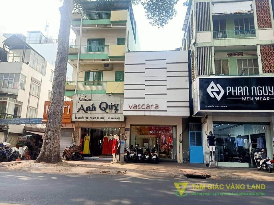 Cho thuê nhà mặt tiền đường Nguyễn Trãi, Phường 3, Quận 5, DT 4.5x17m, 1 trệt 1 lầu, Giá 100 triệu/tháng