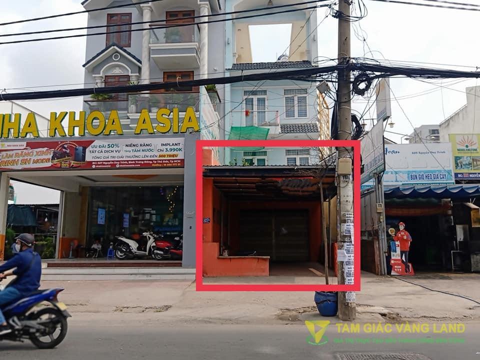 Cho thuê nhà mặt tiền đường Nguyễn Duy Trinh, Phường Bình Trưng Đông, Quận 2, DT 5x27m, mặt bằng, Giá 35 triệu/tháng