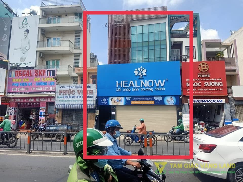 Cho thuê nhà mặt tiền đường Phan Văn Trị, Phường 5, Quận Gò Vấp, DT 7.2x15m, 1 trệt 3  lầu, Giá 100 triệu/tháng